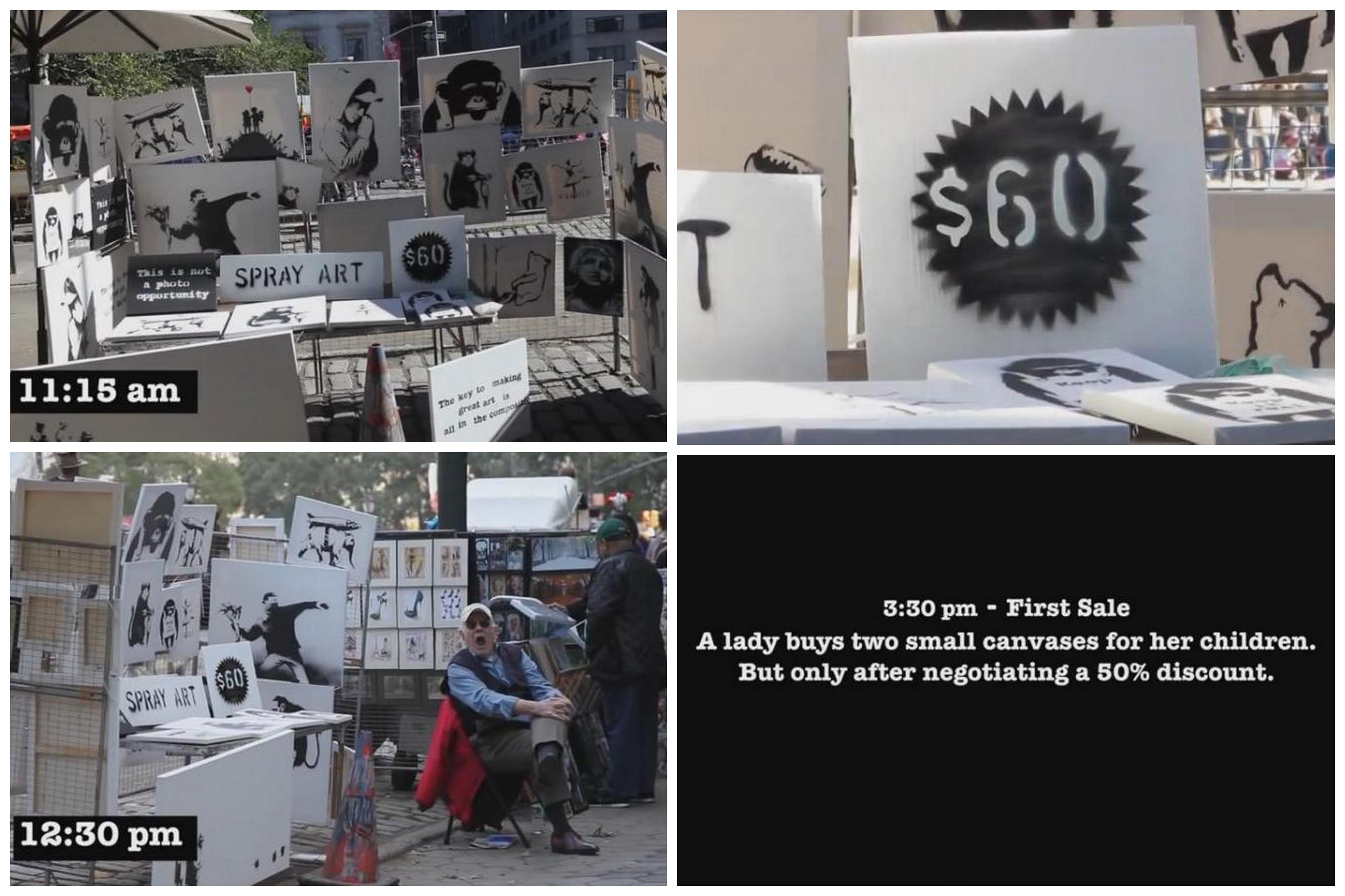 Распродажа работ Banksy