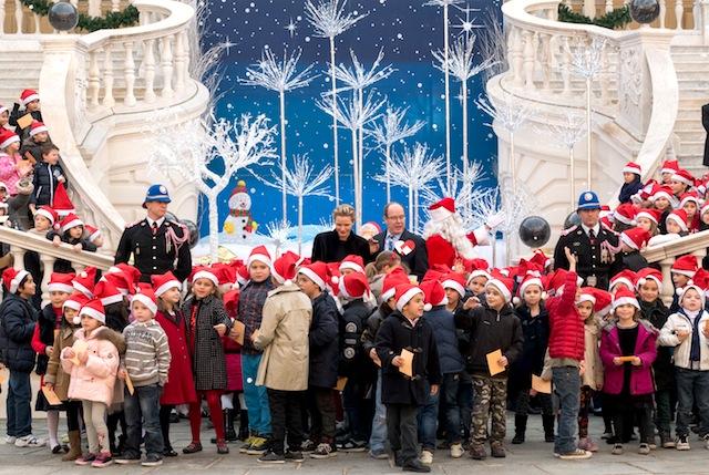 Prince Albert II of Monaco And Princess Charlene of Monaco Attend The Christmas Gifts Distribution in Monaco