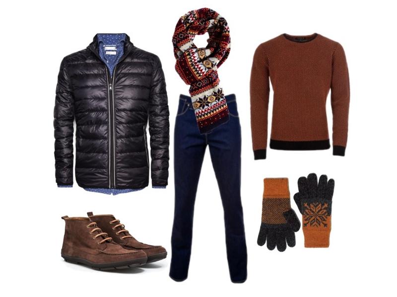 Куртка и ботинки Mango, свитер и джинсы Monton, перчатки Zara, шарф Asos