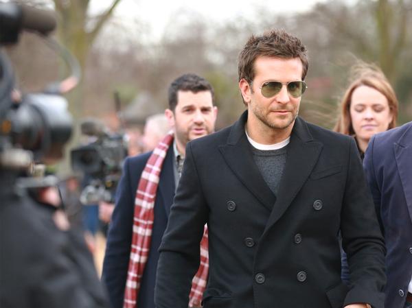 Bradley Cooper at the Burberry Prorsum Womenswear Autumn_Winter 2014 Show