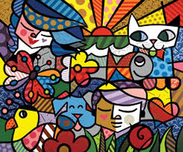 Romero Britto Art Print Wallpapers