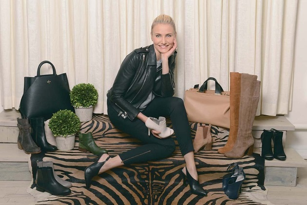 Cameron Diaz with her shoes