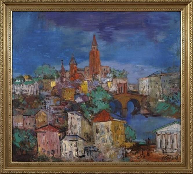 Эндель Кыкс (1912–1983). Вид Тарту. 1938. Коллекция Энна Кунила.