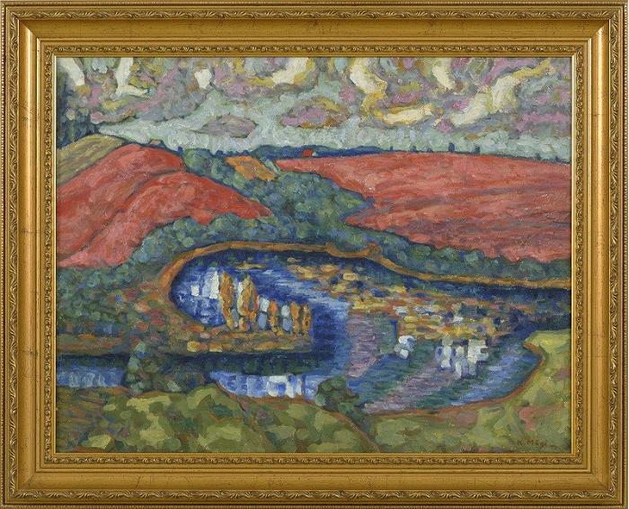 KONRAD MÄGI Maastik roosade põldudega. Landscape with Pink Fields 1915-1916