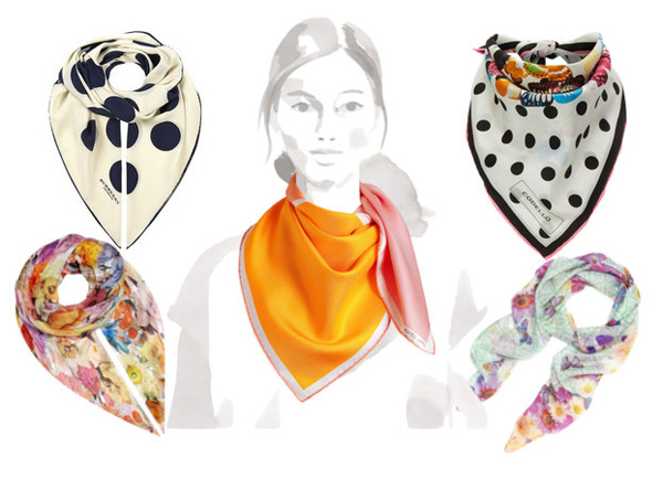 silk scarf_Burberry Prorsum, Hermès, Codello, Paul Smith, Bloom & Geo