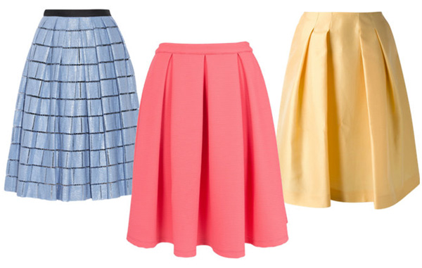 skirts_Tibi, French Connection, Jil Sander