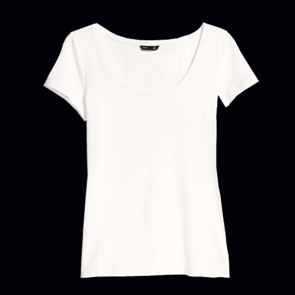 Белая футболка hm