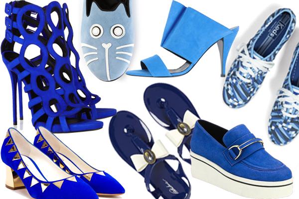 Обувь синего цвета