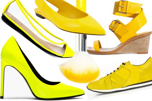 обувь желтого цвета