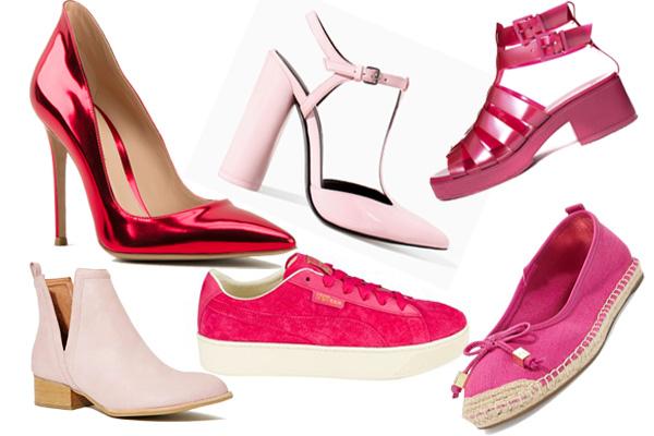 обувь розового цвета весне-лето 2014