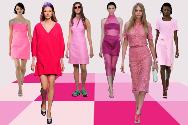 оттенки розового в одежде