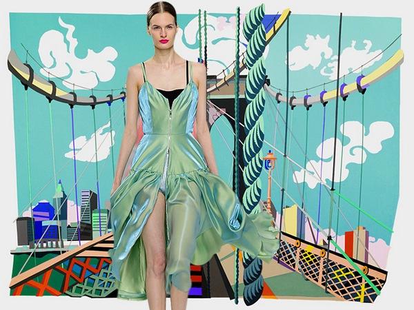 Показ Dior в Бруклине