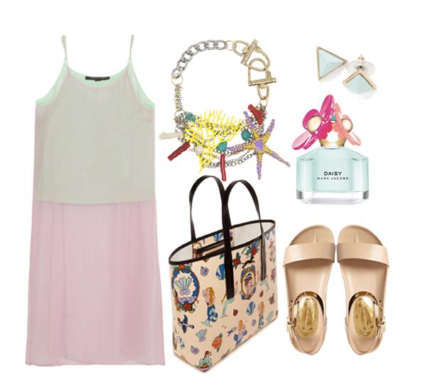 как носить платье-комбинация летом