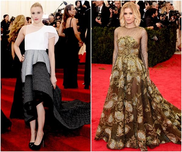 Грета Гервик в Theory и Кейт Мара в Valentino Couture