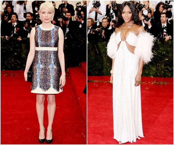 Мишель Уильямс в Louis Vuitton и Наоми Кэмпбелл в Givenchy