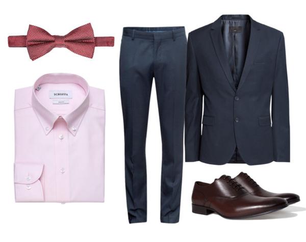 Zara туфли, Schoffa рубашка, H&M костюм, River Island бабочка