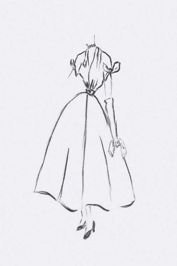 Платье, вдохновившее на создание колье Corolle Jour
