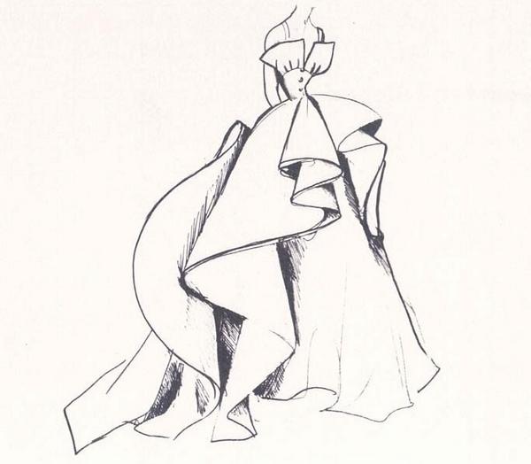 Платье, которое вдохновило на создание кольца Trompe L'oeil