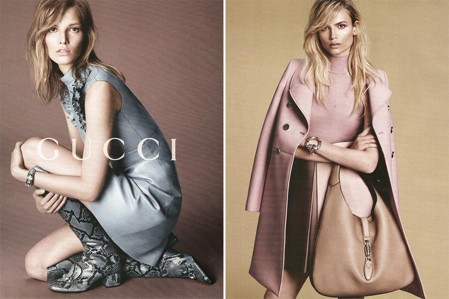 Сразу четыре супермодели в осенней кампании Gucci