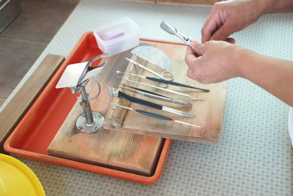 Инструменты для внедрения ядра жемчужины в устрицу