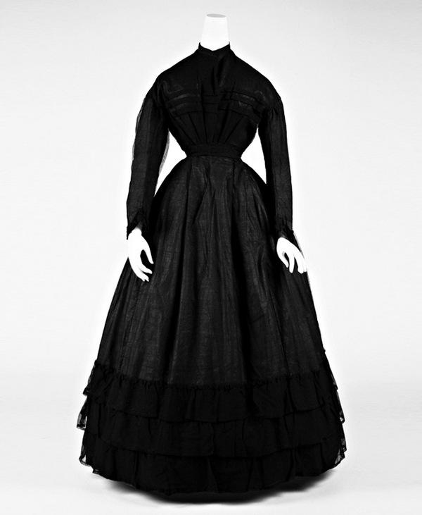 Траурное платье, ок. 1867