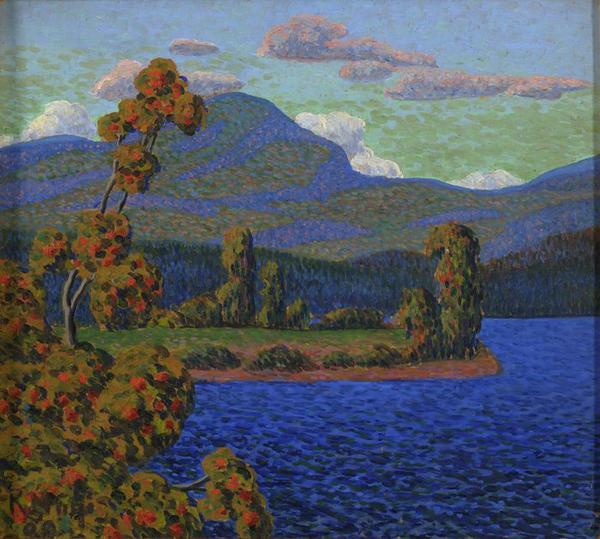 Конрад Мяги (1878–1925). Норвежский пейзаж. 1909. Масло. Художественный музей Эстонии