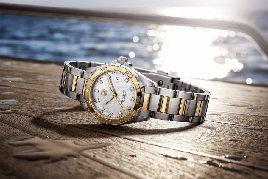 Обновление культовой модели часов Aquaracer Lady от TAG Heuer