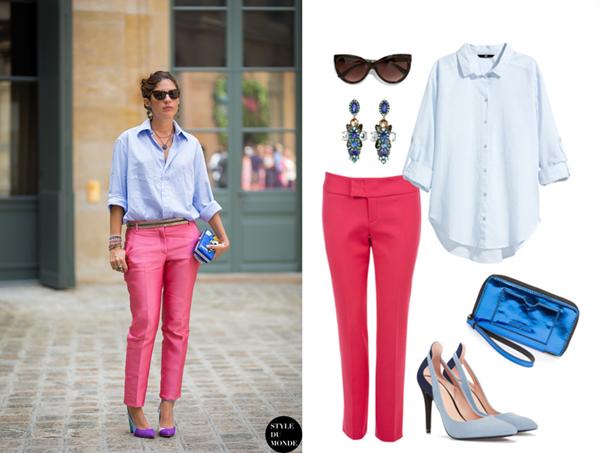Рубашка, серьги, H&M; очки, туфли, Zara; брюки, Monton; клатч, Mango