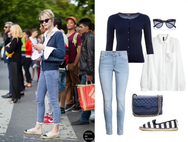 Рубашка, джинсы, H&M; кардиган , Mosaic; эспадрильи, сумка, ASOS; очки River Island
