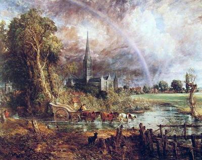 Джон Констебл. Вид на собор в Солсбери. 1829 г.