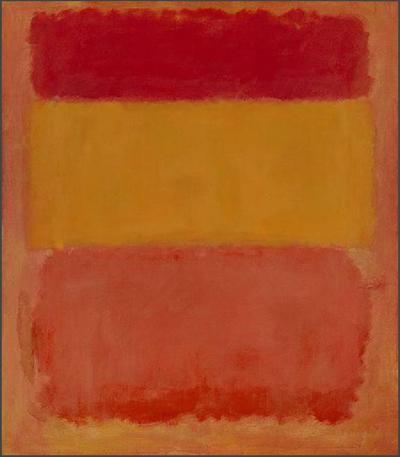 Марк Ротко. Красное, оранжевое, жёлтое. 1956 г.