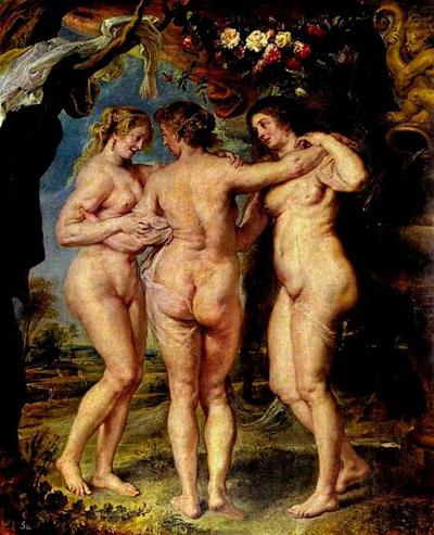 Питер Пауль Рубенс. Три грации. 1639 г.