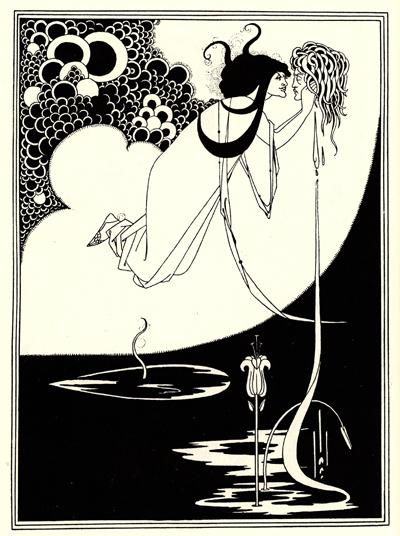 Саломея с головой Иоканаана. Иллюстрация к пьесе О. Уайльда «Саломея». 1894 г.