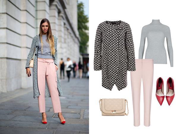 Пальто, Monton; водолазка, брюки, все - Marks&Spencer; туфли, Zara; сумка, Mango