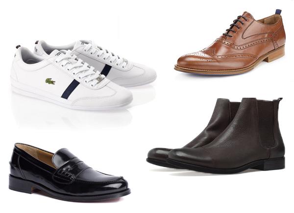 Кеды, Lacoste; лоферы, Tommy Hilfiger; броги, Marks&Spencer; ботинки, Zara