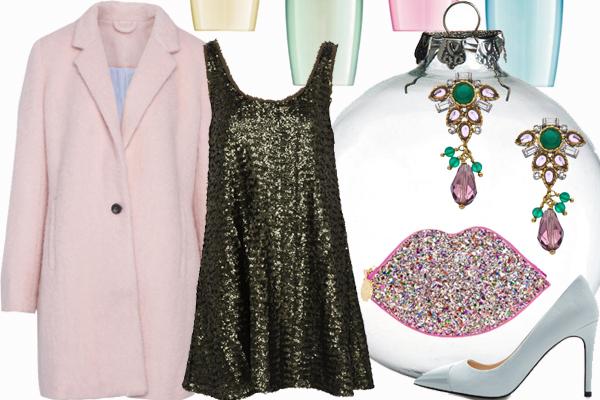 Пальто, платье Pull and Bear, клатч Lulu Guinness, туфли Zara