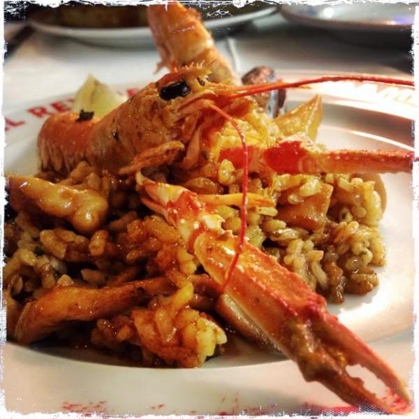 Паэлья с морепродуктами, с приветом от лангустина