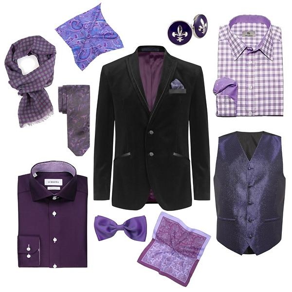 Marks&Spencer блейзер, жилет; Schoffa рубашка, запонки, шарф, бабочка; Albert Ström клетчатая рубашка; Baltman шелковые платки и галстук