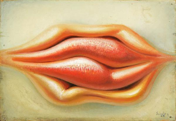 Губы, Ülo Sooster(1924 – 1970), масло, KUMU