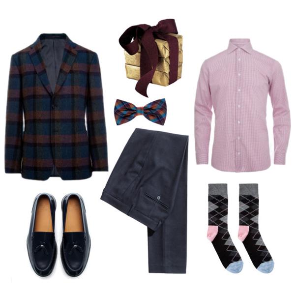 Блейзер и рубашка, все Baltman; брюки, H&M; бабочка, Monton; носки, Happy Socks; лоферы, Zara