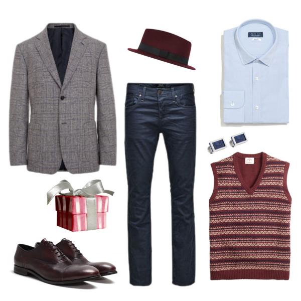 Блейзер, Baltman; джинсы, JackJones; жилет, Brooks Brothers; рубашка и туфли, Zara; шляпа, River Island; запонки, Lanvin
