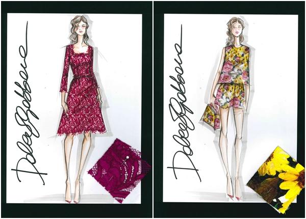 Dolce&Gabbana for NET-A-PORTER.COM summer 2015- Sketch (3)