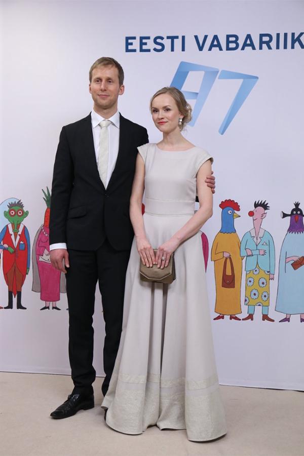 Карин Кильк в платье MARIMO