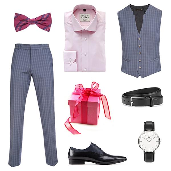 Monton брюки и жилет, Sangar рубашка, Aldo туфли, Daniel Wellington часы, Marks&Spencer ремень