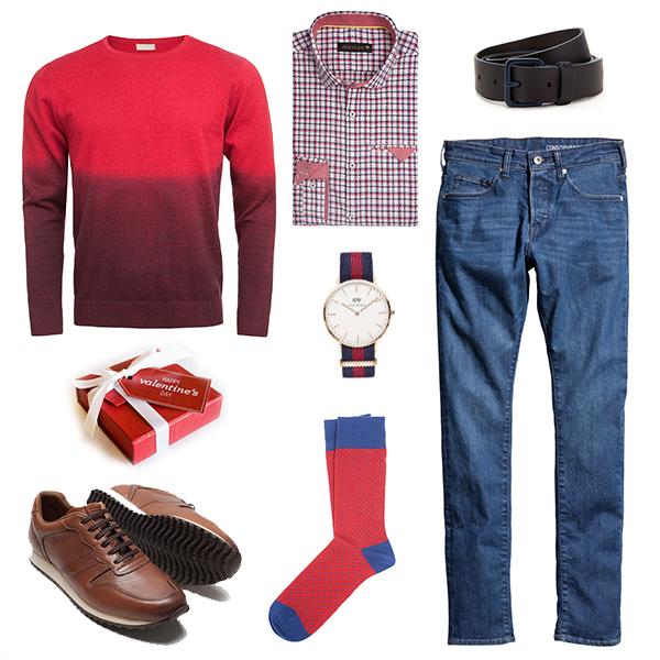 Mosaic свитер, H&M джинсы, Marks&Spencer ремень, Daniel Wellington часы, Monton рубаш-ка, Baltman носки