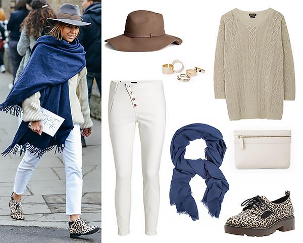 Massimo Dutti свитер Mango клатч, кольца Lindex джинсы H&M шляпа Bershka туфли Monton шарф