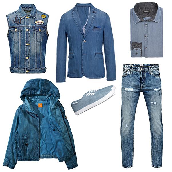Jack&Jones джинсы и жилет, Hugo Boss куртка, Monton блейзер, Baltman рубашка, H&M кеды