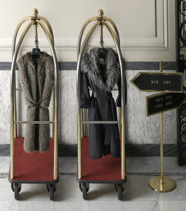 Pieces from the Fendi lancia Travel Capsule Collection.