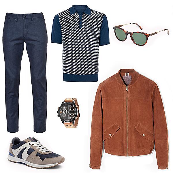 Monton джисны; Marks&Spencer поло; Tommy Hilfiger кроссовки и очки; Police часы