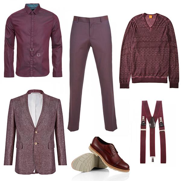 Monton рубашка и подтяжки, Marks&Spencer блейзер, Hugo Boss джемпер и туфли, Baltman брюки